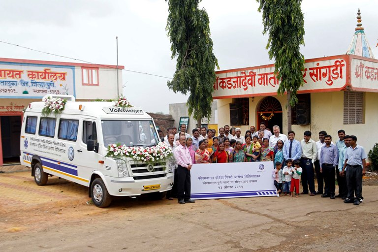 Volkswagen India Expands Csr With Mobile Health Clinic Service In Rural Belt Automotiveindianews