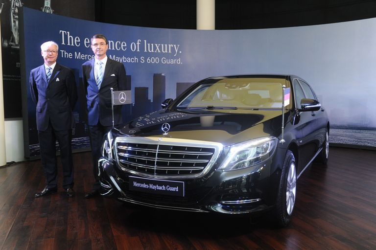 Top rated safety car mercedes maybach s 600 guard launched for Mercedes benz ceo