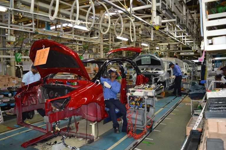Toyota Kirloska Plant near Bangalore