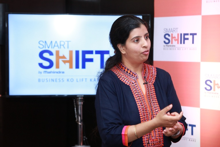 Kausalya Nandakumar, CEO, SmartShift Speaking at the launch of SmartShift in Bangalore today