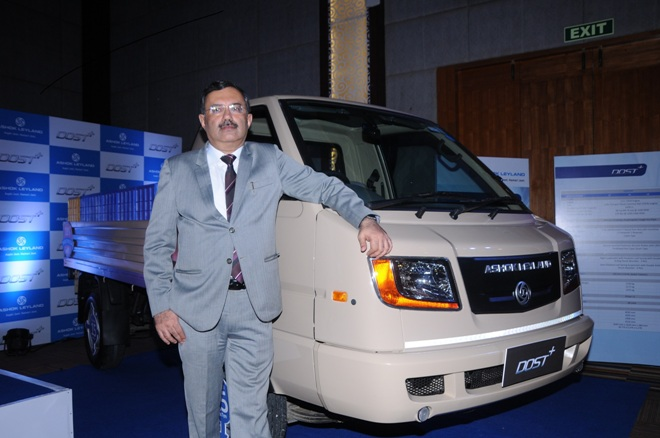 Ashok leyland to enter russia with left hand drive lcvs nitin seth president light commercial vehicles ashok leyland at the launch of dost in bangalore mozeypictures Image collections